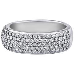 1.18 Carats Micro Pave Diamonds Gold Ring