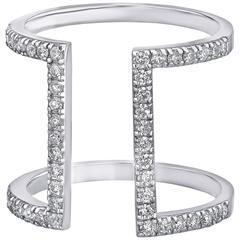 Emilio 0.71 Carats Open Design Diamonds Gold Ring