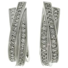 Cartier Trinity Diamond Gold Classic Large Wrap Earrings