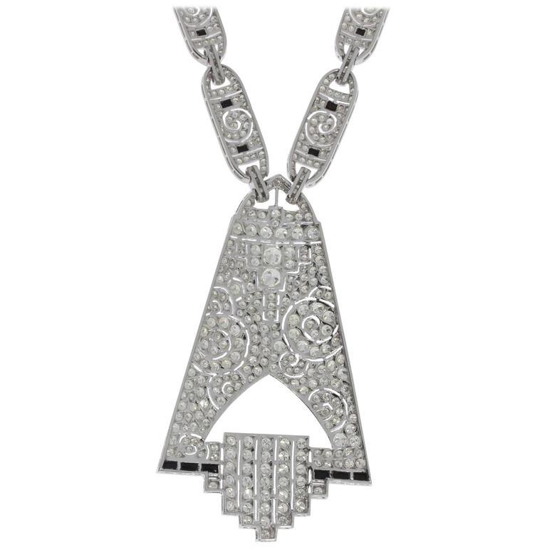 Magnificent Diamond Gold Pendant Necklace