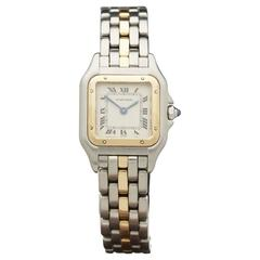 Cartier ladies Stainless Steel Yellow Gold Panthere Quartz Wristwatch Ref 669