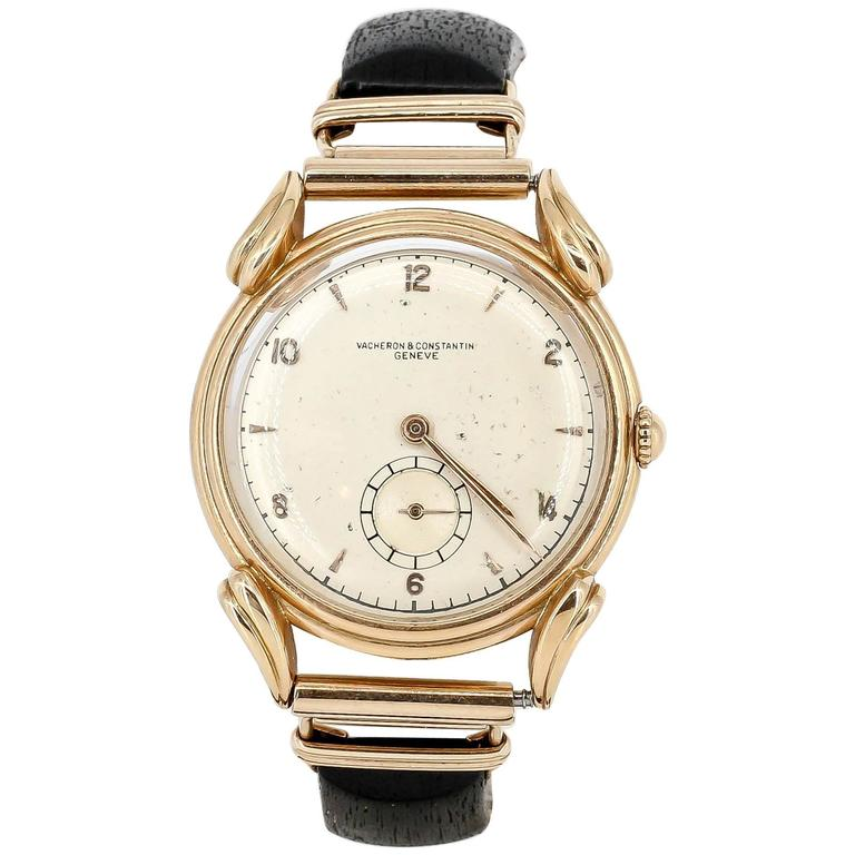 Vacheron Constantin Yellow Gold Fancy Lugs Wood and Gold Bracelet Wristwatch