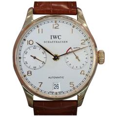 IWC Rose Gold Portuguese 7 Day Power Reserve Automatic Wristwatch Ref. IW500113