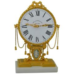 Omega for Edward Caldwell & Co. Victorian Style Gilded Mantle Clock