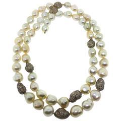 Golden Baroque South Sea Pearl Necklace