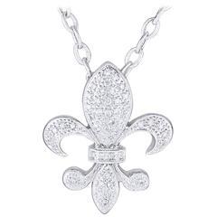 KC Designs Medium Fleur de Lis Diamond gold Pendant