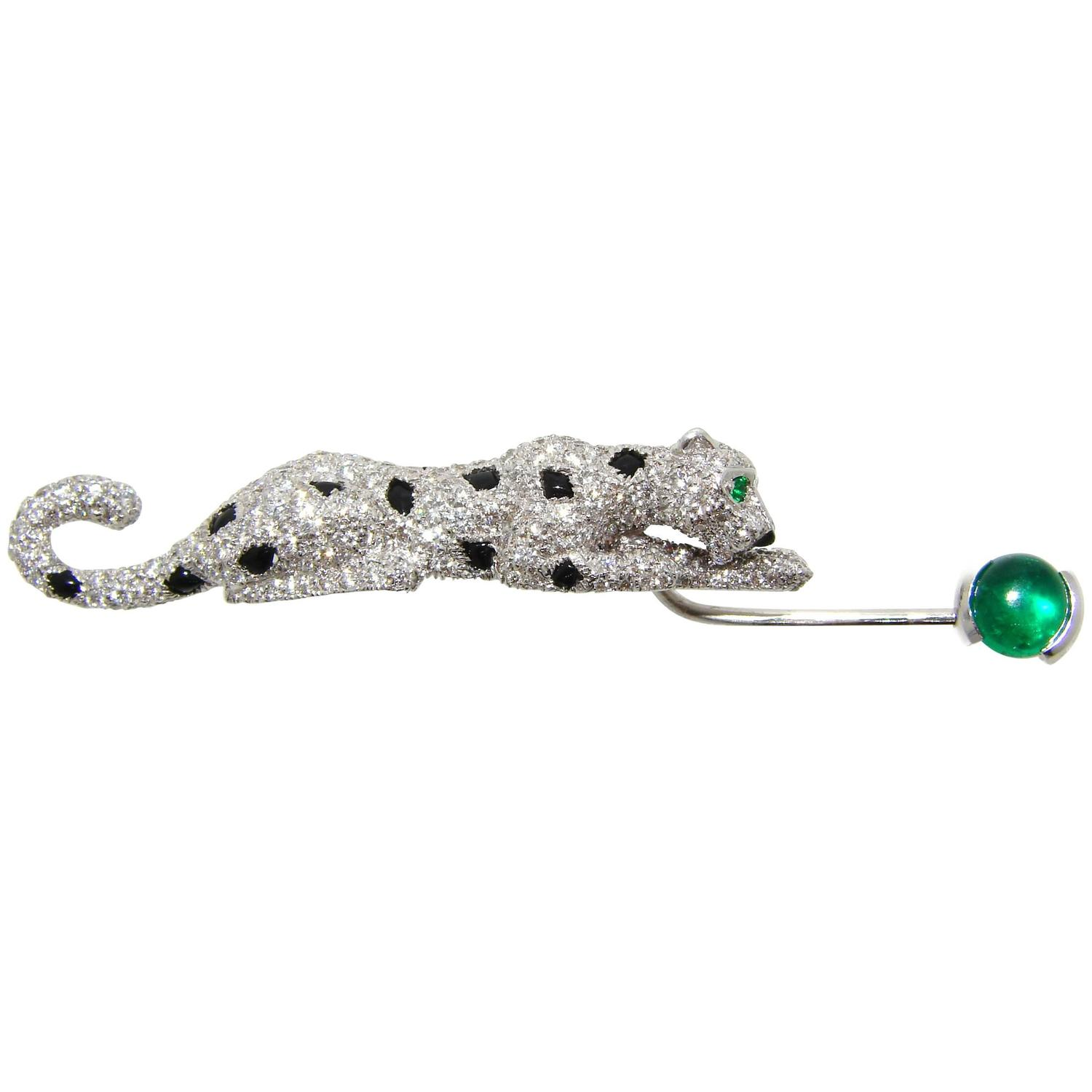 and jabot bead emerald george diamond pin sapphire formerly by desktopdefault cartier moore mrs owned
