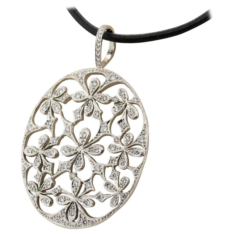 Cathy Waterman Diamond Platinum Pendant