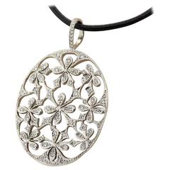 Cathy Waterman Diamond Platinum Pendant