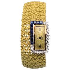 Ebel Ladies Yellow Gold Diamond Bracelet Wristwatch