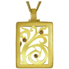 Alex Soldier Champagne Diamonds Gold Contrast Texture Ltd. Ed. Ornament Pendant