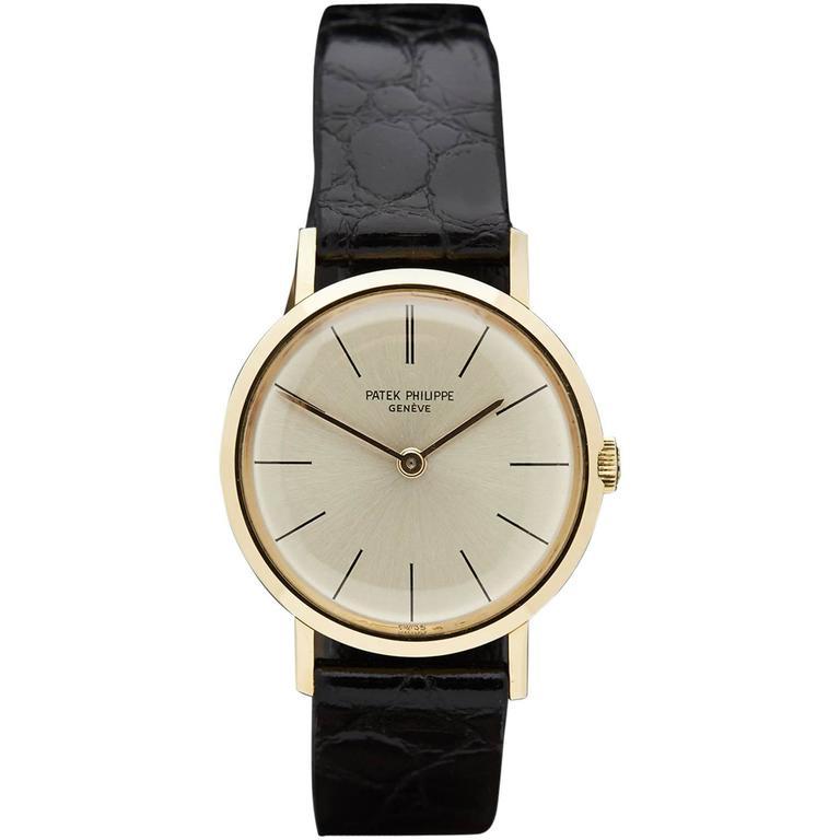 Patek Philippe Ladies Calatrava Mechanical Manual Wind Wristwatch
