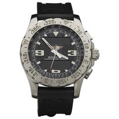 Breitling Stainless Steel Airwolf digital chronograph Quartz Wristwatch