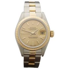 Rolex ladies Stainless Steel Yellow Gold Datejust AutomaticWristwatch