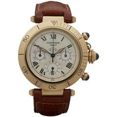 Cartier Pasha Yellow Gold chronograph 150th anniversary Quartz Wristwatch