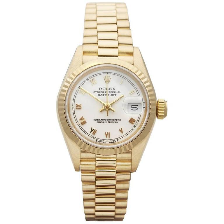 Rolex ladies Yellow Gold Datejust AutomaticWristwatch