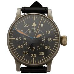 A.Lange & Sohne Stainless Steel Mechanical Wind Luftwaffe Wristwatch