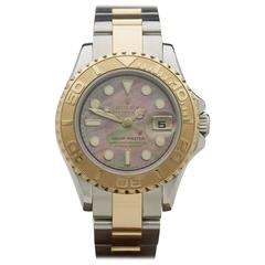Rolex ladies Yellow Gold Stainless Steel Yacht-Master Automatic Wristwatch