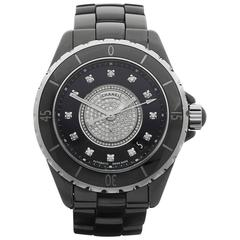 Chanel Ceramic Diamond Dial J12 Automatic Wristwatch H1757