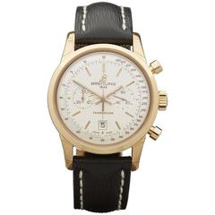 Breitling Rose Gold Transocean Chronograph Automatic Wristwatch Ref W2862