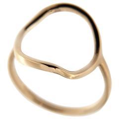 Jona 18 Karat Rose Gold Open Circle Hoop Ring