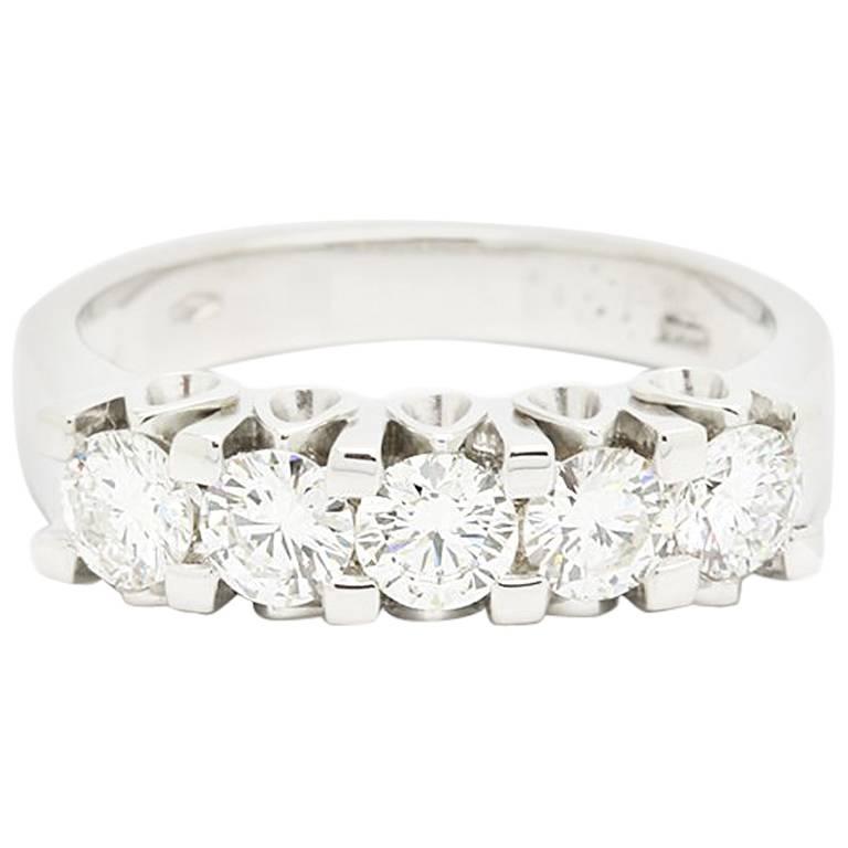 Ferrucci Five Diamonds Gold Ring