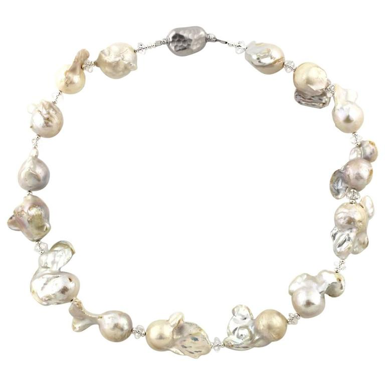 Glistening Baroque Pearl Necklace