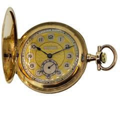 Audemars Freres Yellow Gold Pocket Watch Circa 1900