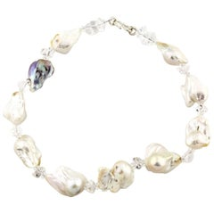 """Gemjunky Dramatic Large Handmade 19.5"""" Baroque Pearl Necklace"""