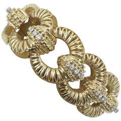 1950s Beautiful Diamond Gold Bracelet.