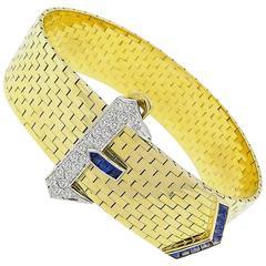 Tiffany & Co. Sapphire Diamond Gold Belt Bracelet