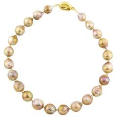 Elegant golden Pearl necklace