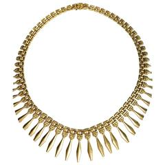 1960s Gold Collar Necklace