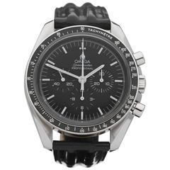 Omega Stainless Steel Speedmaster chronograph Mechanical Wind Wristwatch