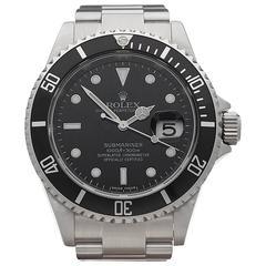 Rolex Stainless Steel Submariner Automatic Wristwatch Ref 16610