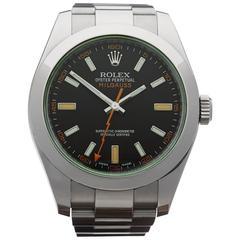 Rolex Milgauss green glass Automatic Wristwatch Ref W3150