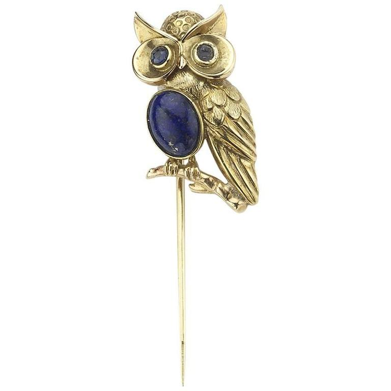 Owl Tie Pin For Sale