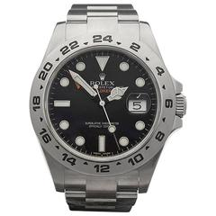 Rolex Stainless Steel Explorer II orange Automatic Wristwatch