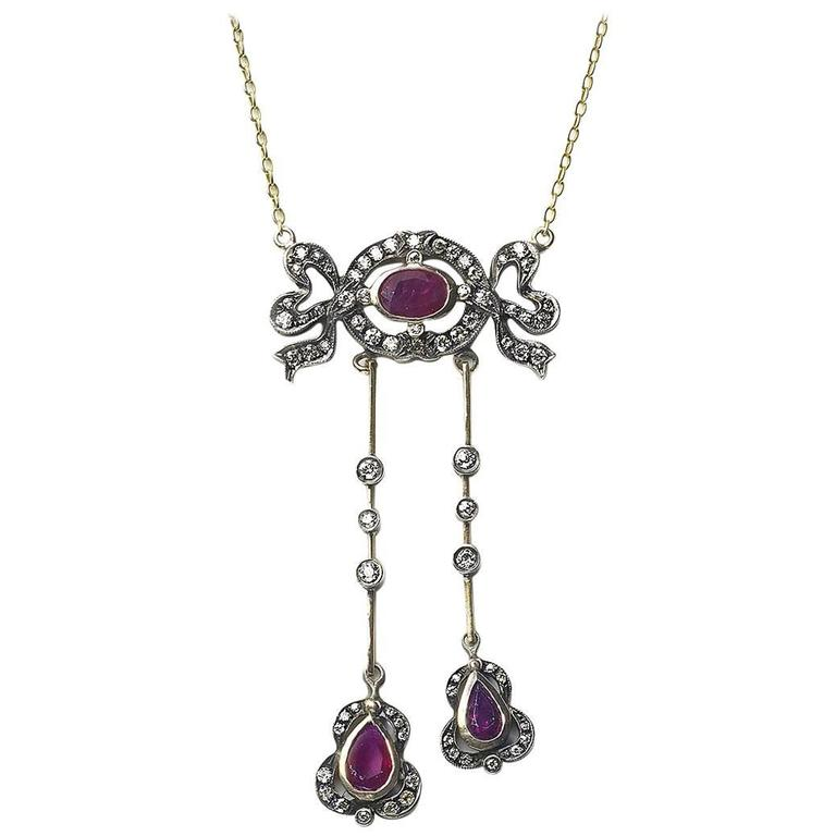 Ruby & Diamond Negligee Pendant