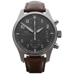 IWC Stainless Steel Pilot's Chronograph spitfire Automatic Wristwatch