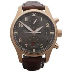 IWC Rose Gold Pilot's Chronograph spitfire Automatic Wristwatch