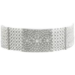 Pearl, Diamond and Platinum Choker Necklace