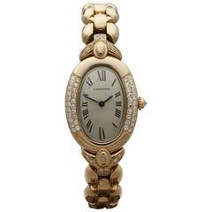 Cartier Baignoire original diamonds ladies 935 watch