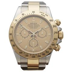Rolex Yellow Gold Stainless Steel Daytona Automatic Wristwatch Ref 116523