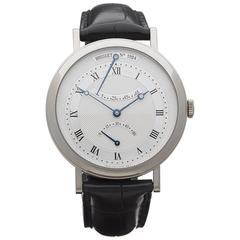 Breguet White Gold Classique retrograde seconds Automatic Wristwatch