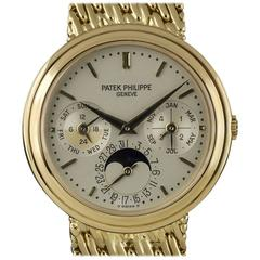 Patek Philippe Gold Perpetual Calendar Moonphase Automatic Wristwatch