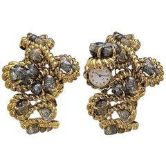 1970 David Webb Ladies Bracelet Wristwatch