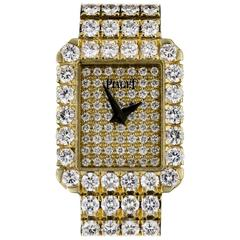 Piaget Ladies Gold Diamond Fully Loaded Tradition Quartz Wristwatch