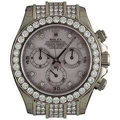 Rolex Gold Diamond Daytona Chronograph Automatic Wristwatch