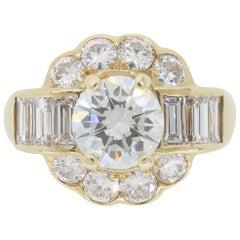 2.20 Carat Custom Diamond Engagement Ring